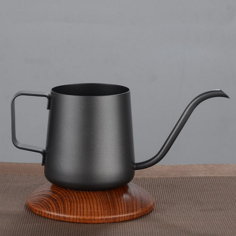 LUDA Thicker Long Mouth Hand Coffee Pot Stainless Steel Coffee Maker Europe Style Milk Pot Tea Pot