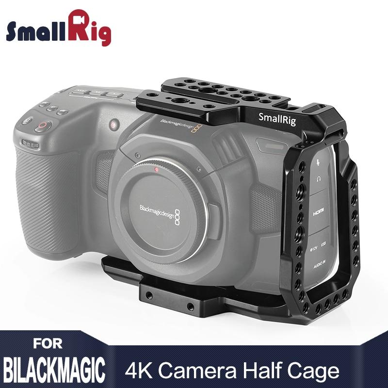 SmallRig BMPCC 4 k Gabbia Fotocamera Metà Gabbia per Blackmagic Design Tasca Cinema Camera 4 k Caratteristica con la Nato ferroviario CVB2254