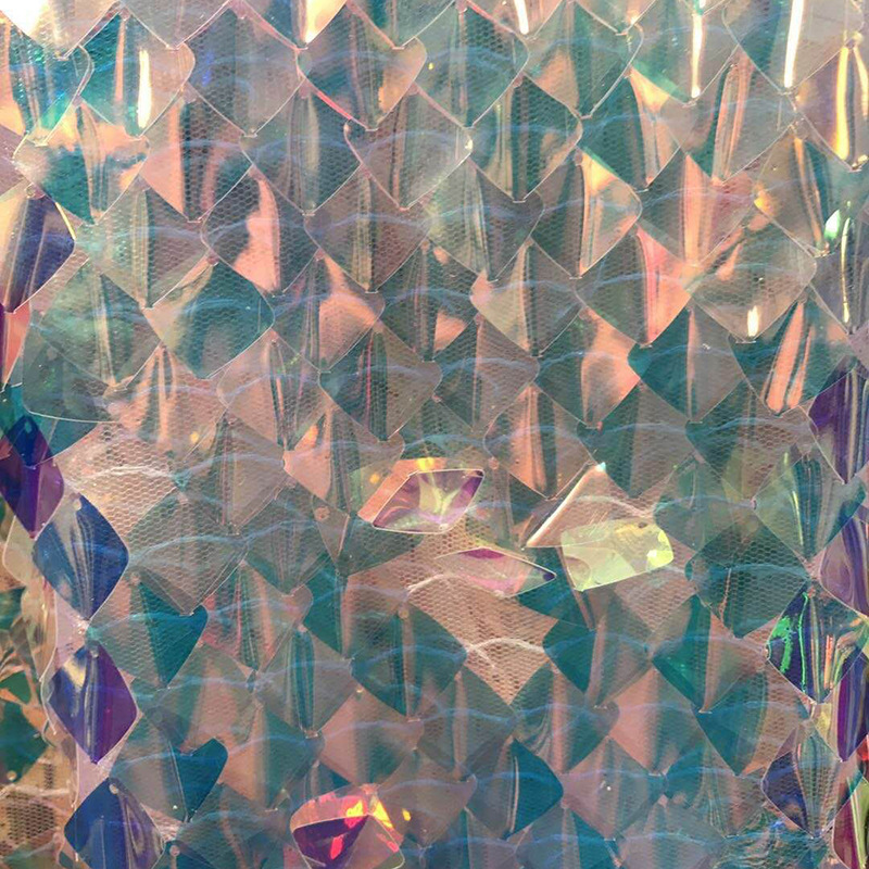 3D Square Diamond Sequin Embroidery Mesh Fabric Bazin Riche Getzner Telas Sequin Fabric Material Tecidos Para Roupa