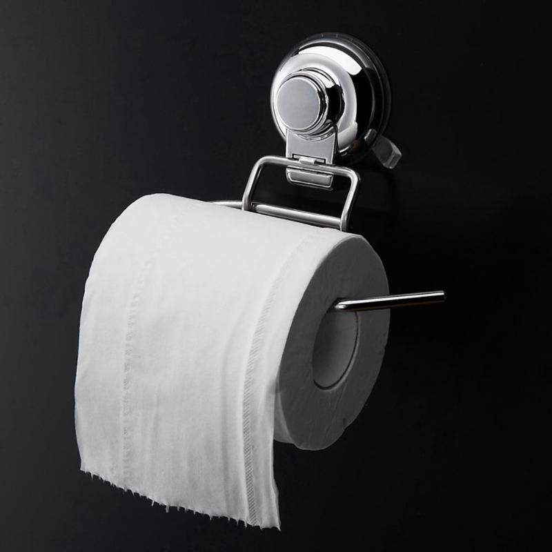 Casa de Banho de Aço inoxidável Barra de Suporte Do Papel Higiénico do Rolo de Tecido Suporte de Papel Titular Banheiro Fixado Na Parede por Ventosa A Vácuo de Ar