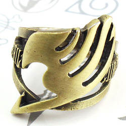 Япония Аниме Fairy Tail (Guild) логотип кольцо бронза Ручной работы 18 мм подарки для детей унисекс аксессуары к костюму для Косплей кольцо