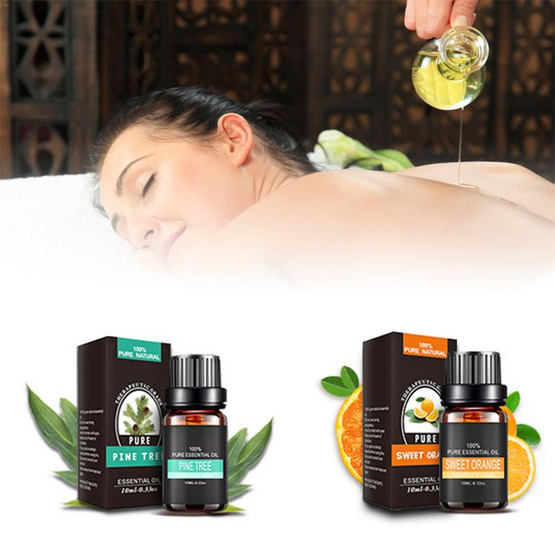 10ml Aromatherapy Diffusers Essential Oils Natural Moisturizing Body Massage Relax Plant Fragrance Pure Essential Oil Skin Care in Essential Oil from Beauty Health