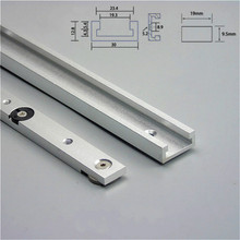 Aluminium Alloy T-tracks Slot Miter Track and Miter Bar Slider Table Saw Miter Gauge Rod Woodworking Tools Workbench DIY cheap OLOEY Miter Bar and T-track Miter Slider and T-track Other Wood Working Tool 300mm-850mm