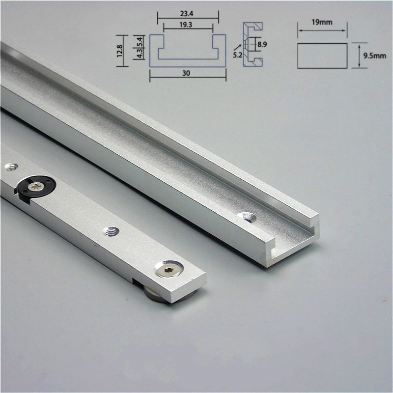 Aluminium Alloy T-tracks Slot Miter Track And Miter Bar Slider Table Saw Miter Gauge Rod Woodworking Tools Workbench DIY