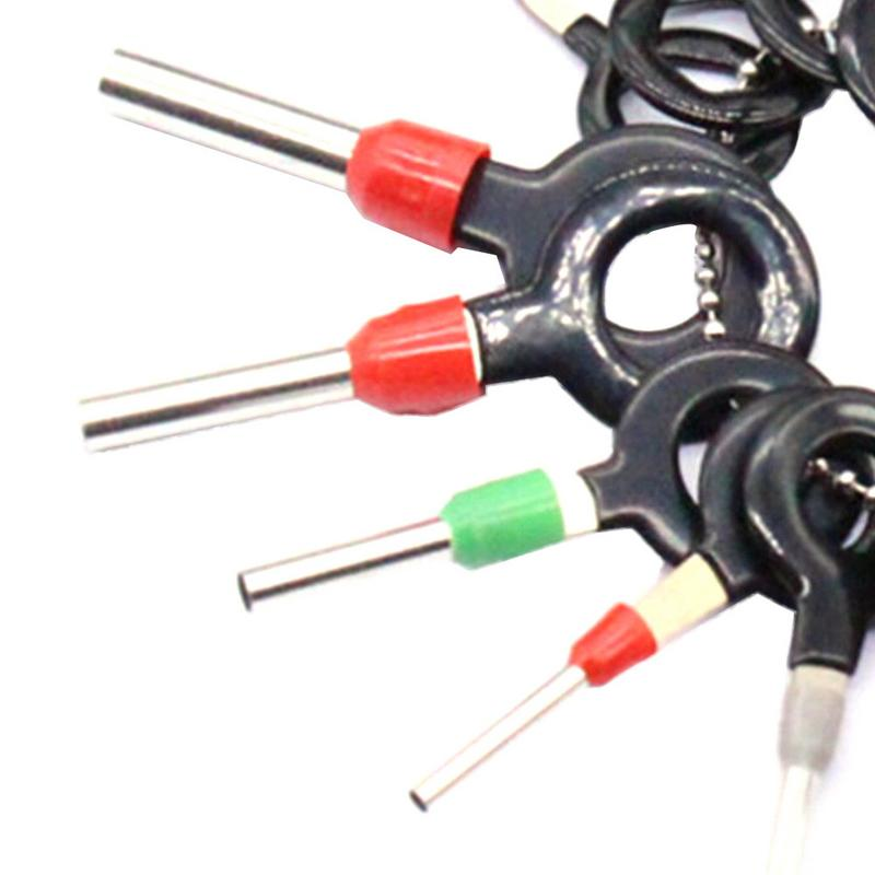 18PCS Car Wire Terminal Removal Tool Wiring Connector Extractor Puller Tools Stainless Steel Automobile Motorcycle Repair Tool