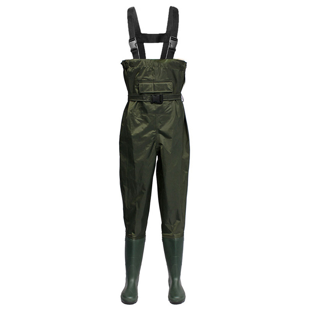 Fishing Vest Chest Wader Nylon PVC Waterproof Fishing Hunting Waders for Men and Women Fishing Vests