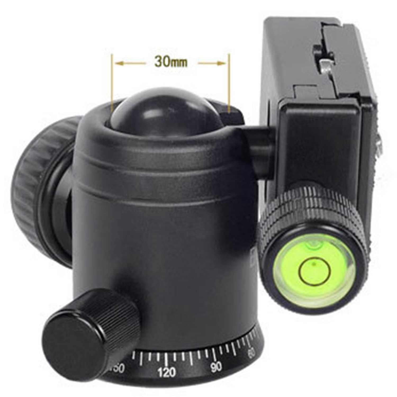 Bexin V-30 вращающаяся на 360 градусов портативная мини камера видео шаровая Головка штатива с 1/4 дюймовой резьбой БЫСТРОРАЗЪЕМНАЯ пластина для Manf