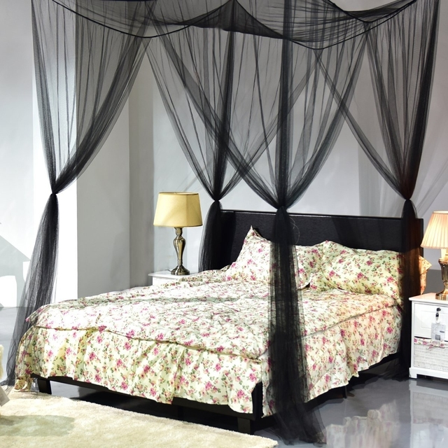 4 Corner Post Bed Canopy Mosquito Full Queen King