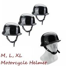 Caschi Da moto Nero Tattico Moto Mezza Biciclette Casco DOT Metà Piatto Viso Casco Per Harley Chopper Cruiser M L XL