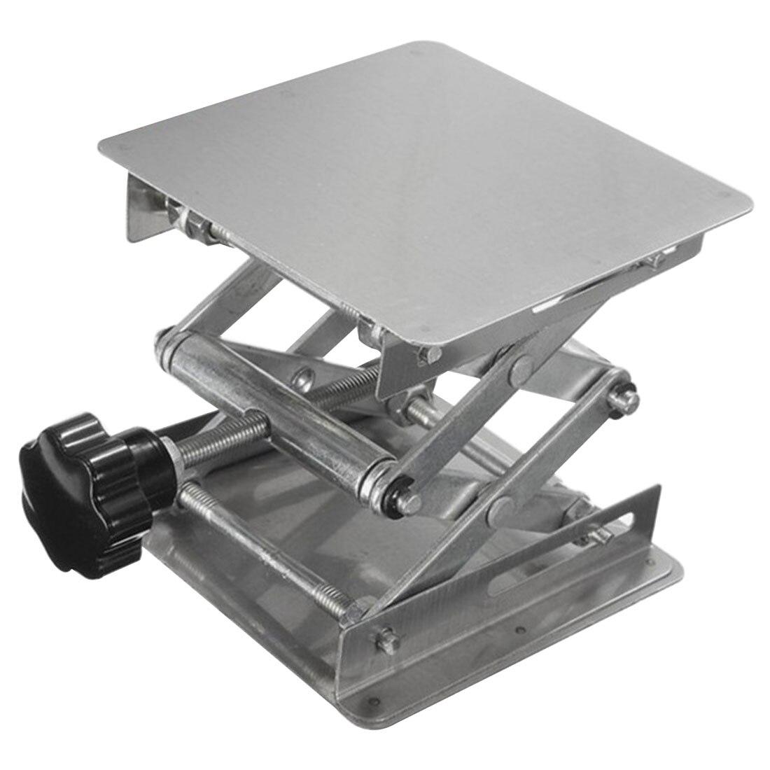 Suporte de Levantamento do Laboratório Roteador de Aço Carpintaria Gravura Plataforma Elevador Rack 100x100mm Inoxidável Mesa