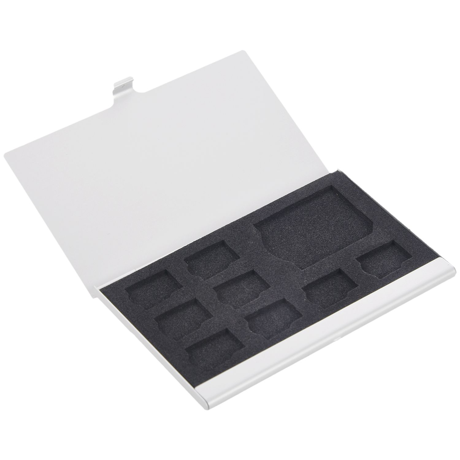 9 Micro-SD/SD Memory Card Storage Holder Box Protector Metal Cases 8 TF&1 SD
