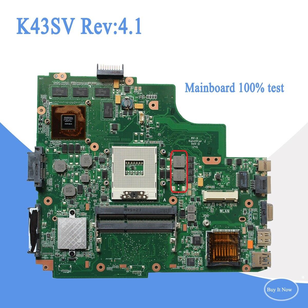 Motherboards Computerkomponenten K43sv Rev4.1 Usb3.0 Für Asus K43sv A43s K43s X43s P43s P43sj K43sj A83s A84s K43sm Laptop Motherboard 8 Stücke Speicher Volle Test Neueste Mode