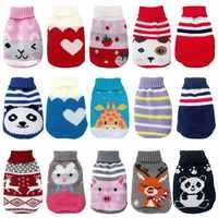 Invierno Ropa de gato de dibujos animados cálido suéter de gato de Navidad Para Perros pequeños Ropa Para mascotas chaqueta de abrigo de perro Kitty Ropa Para Perros