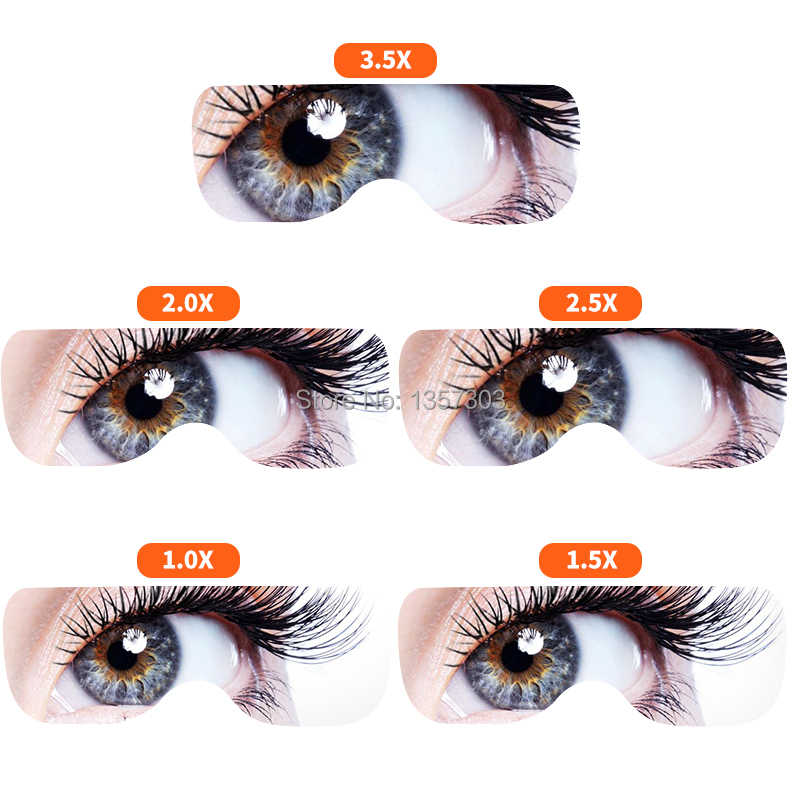 Eyelash Extension 5 Lens Adjustable Headband Magnifying Glass With LED  Light lamp For Beauty Tattoo Magnifying Glasses For