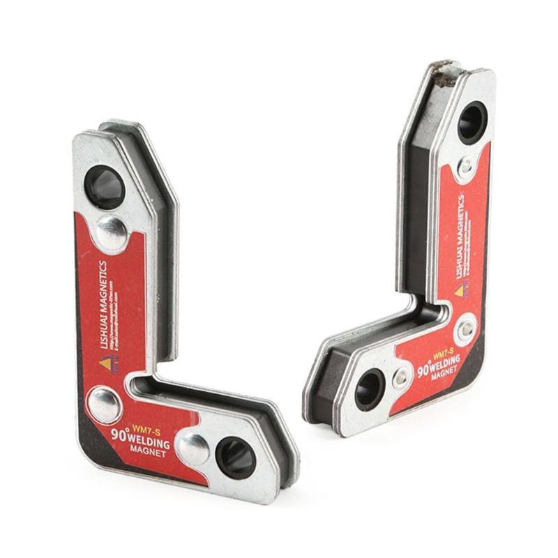 Welding Magnets 2pcs multi-angle Magnetic Holder Corner Nd-Fe-B  Right Angle Clamp Magnetic Welding Holder for welding doors