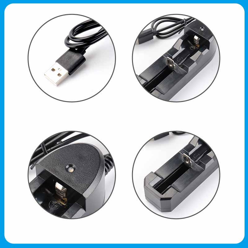 Image 4 - Rechargeable 1 Slot Battery Charger Li Ion USB Single Slot Smart Fast Charger For 18350 18500 18650 Battery AAA Li Ion Battery-in Chargers from Consumer Electronics