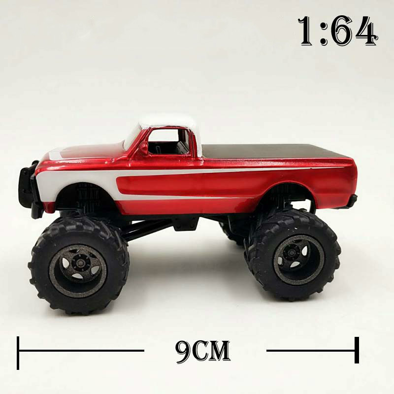 Gl 1:64 1970 Chevrolet K-10 Monster Truck Usa-1 Alloy Model Car Diecast Metal Toys Birthday Gift For Kids Boy Diecasts & Toy Vehicles