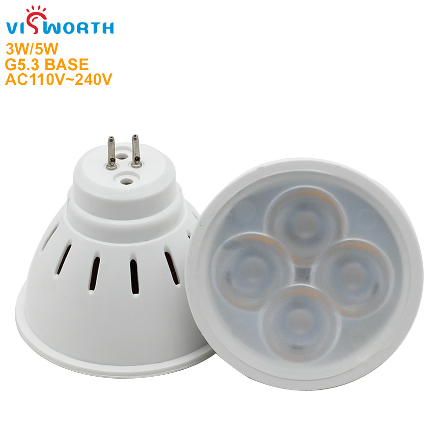G5.3 LED Spotlight Bulb 3W 5W Led Light AC 110V 220V 240V Cabinets Spotlight SMD2835 Warm/Cool White Downlight