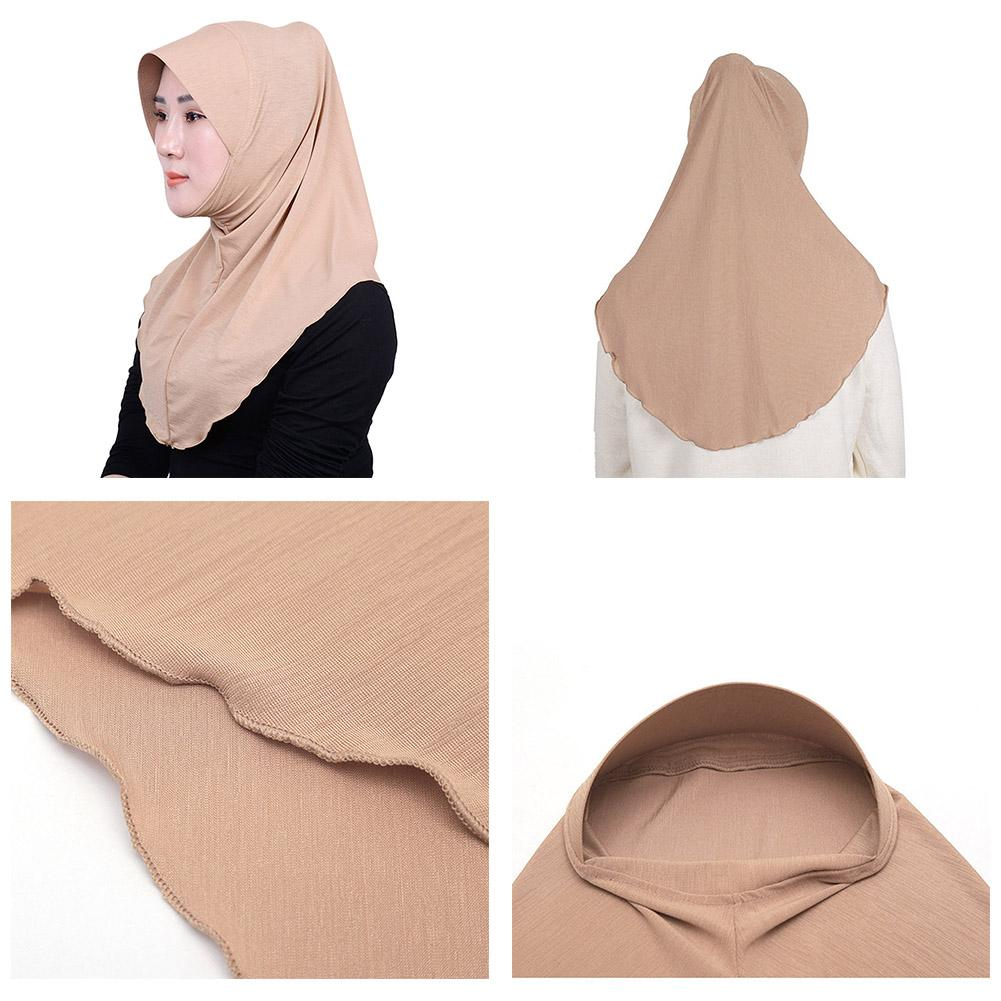 Women plain Bamboo joint scarf hijab solid color shawls headband muslim hijabs with Hui Nationality casual Style in Islamic Clothing from Novelty Special Use