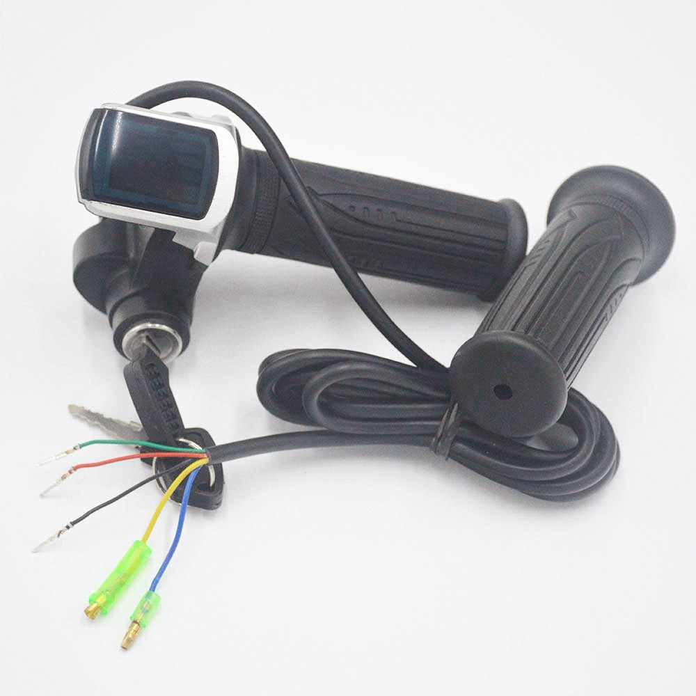 24V 36V 48V e bike e-bike throttle electric Throttle twist throttle with LED display Indicator for electric bike/bicycle/scooter