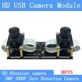 1080P без искажений Гибкая синхронизация стерео веб-камера двойной объектив 30FPS USB модуль камеры для 3D видео VR Виртуальная реальность