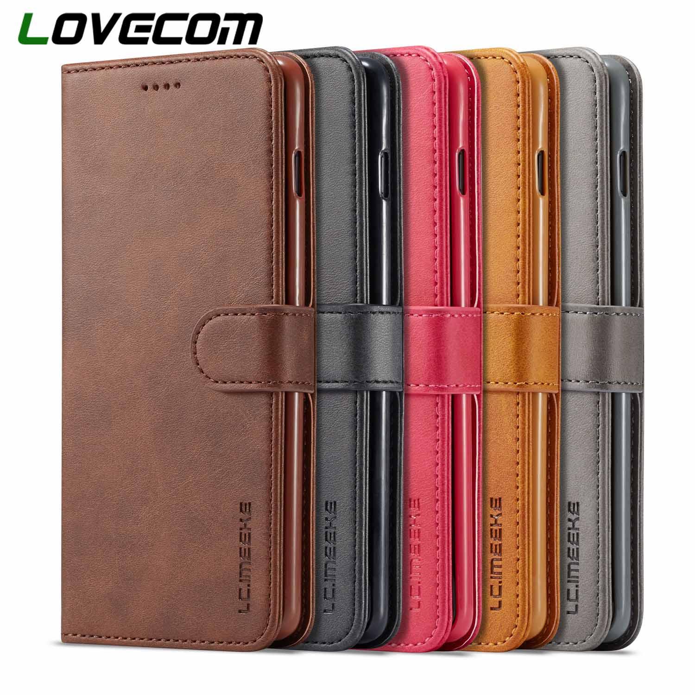 LOVECOM винтажный кожаный бумажник флип-чехлы для телефонов samsung Galaxy A10 A20 A40 A50 A60 M30 S10 Plus S10e S9 Note 8 9 задняя крышка