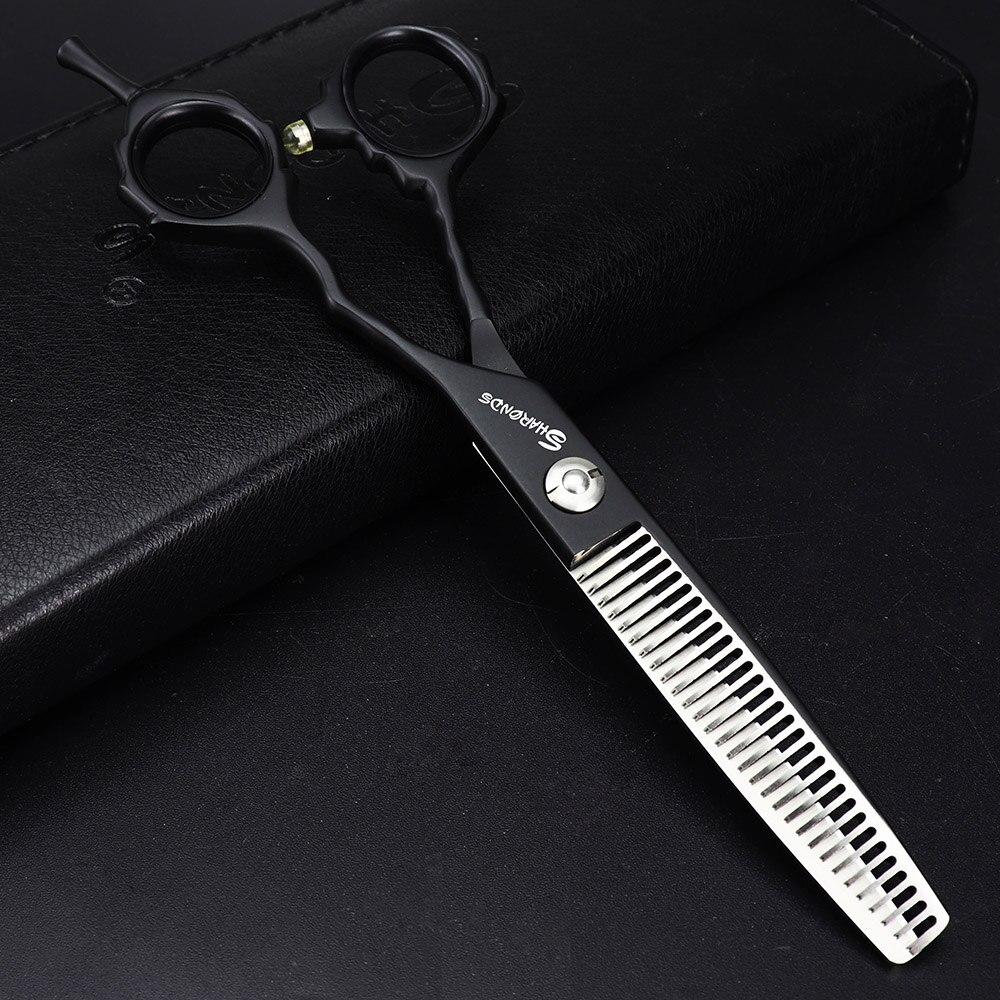 Barber makas hairdresser scissors kit professional 9cr13 6.0 440c barbershop hairdressing cutting&thinning shears cliper makas