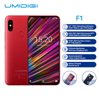 UMIDIGI F1 4G Smartphone 6.3 inch Android 9.0 Octa Core 2.0GHz 4GB RAM 128GB ROM 16.0MP Front Camera 5150mAh Mobile Phone