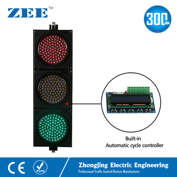 Automatic Cycle Running Controller LED Traffic Light 300mm 12inches Signal Sign