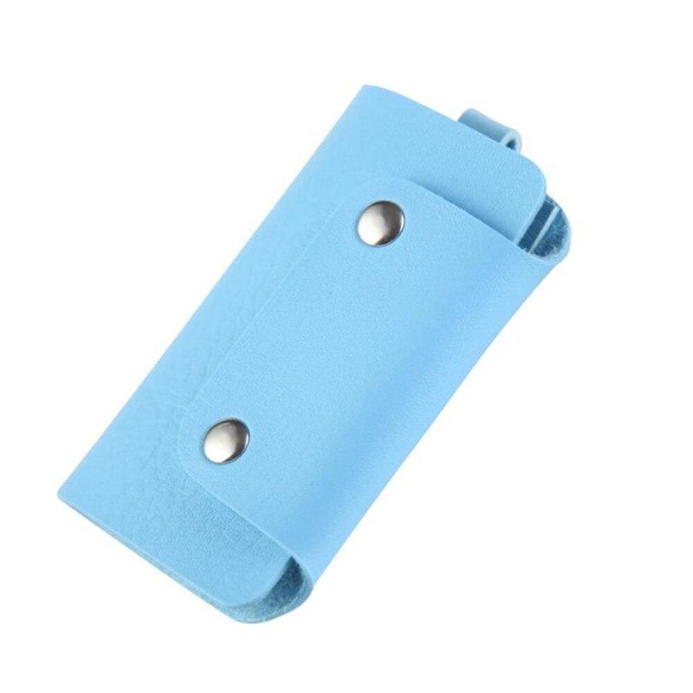 1 Stück Leder Keeper Halter Auto Keychain Schlüssel Halter Tasche Fall Brieftasche Abdeckung Mode Geschenk Baller Form Solid Key Organizer Heißer