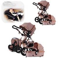 Детская коляска 3 в 1 легкая коляска детская Автомобильная Высокая Ландшафтная коляска Buggys коляски складные коляски
