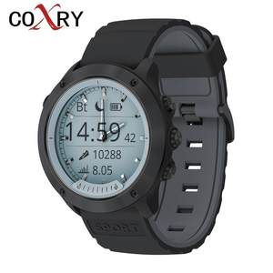 COXRY Pedometer Monitor Smartwatch Quartz Sport-Heart-Rate Transparent Waterproof Dual-Display