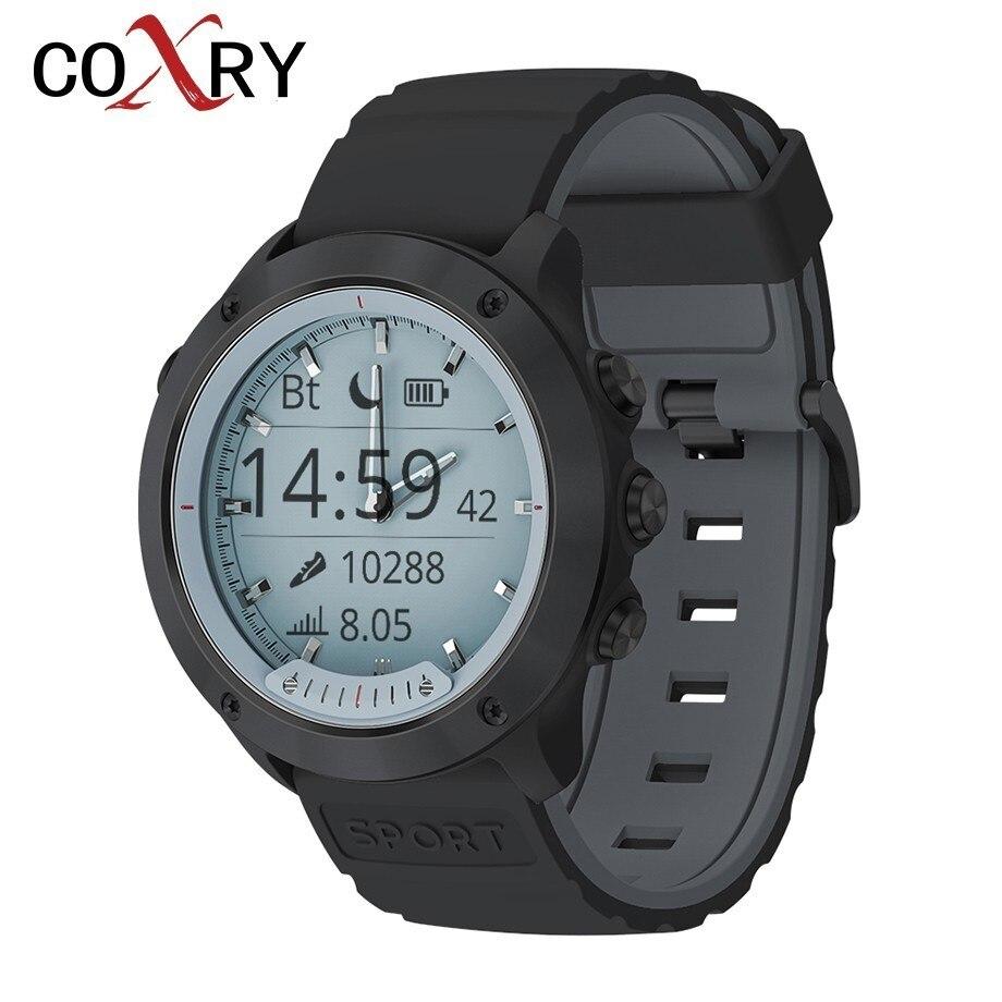 COXRY Smart Watch 2019 Transparent LED Quartz Dual Display Pedometer Waterproof Watch Men Sport Heart Rate Monitor Smartwatch