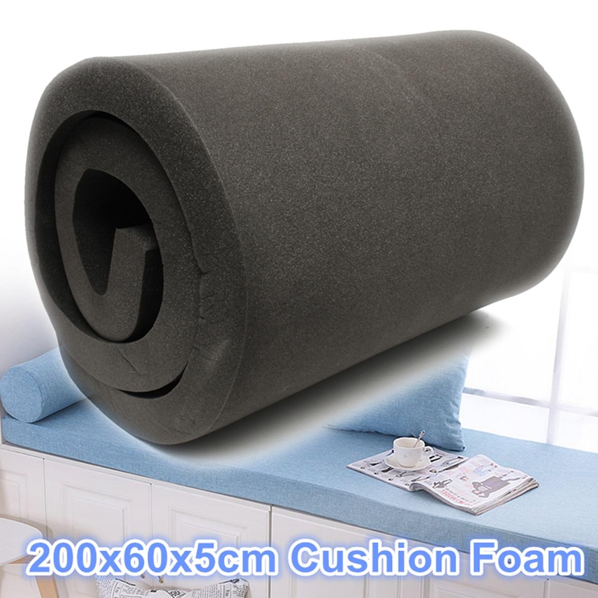200x60x5 cm noir haute densité polyuréthane siège mousse coussin feuille de remplacement rembourrage coussin mousse tampons meubles couvertures