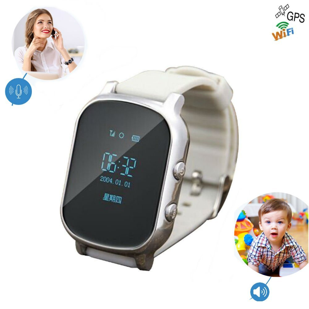 Kids GSM GPS Tracker SIM For Children Kid Smart watch Phone Smart bracelet Google Map T58 Children Watchs for iOS Android-in Smart Watches from Consumer Electronics    1
