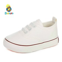 Children canvas shoes kids shoes for girl white boys sneakers 2017 spring autumn toddler shoes girls fashion single baby shoes