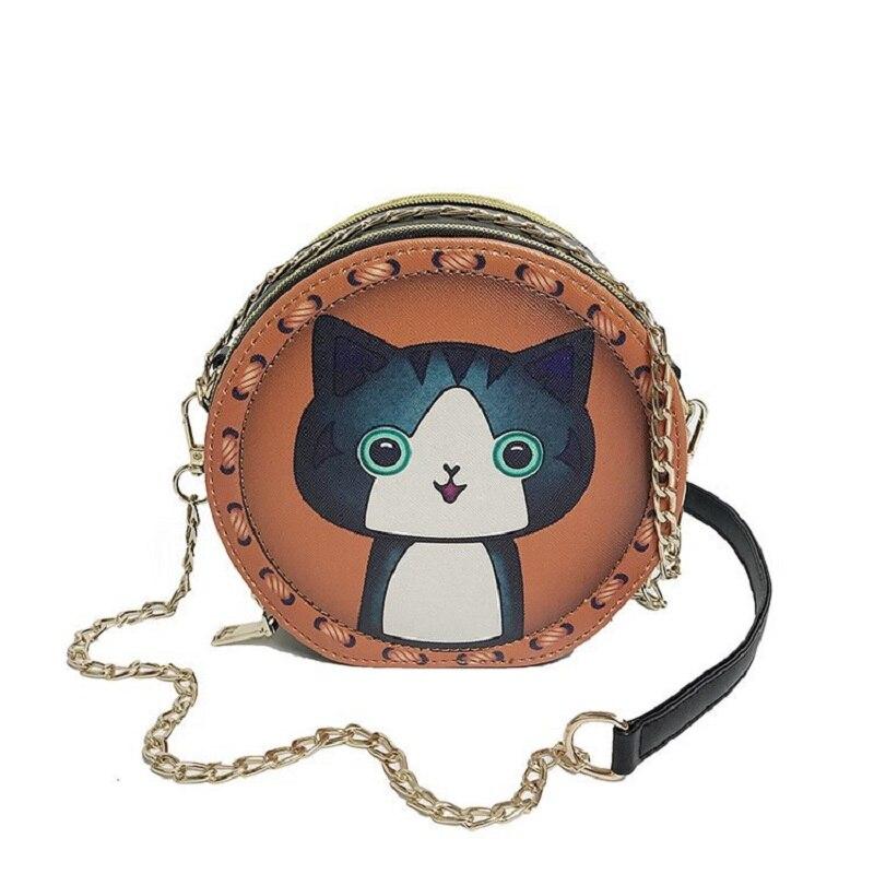 Mini Round Bags for Women 2019 Handbags Small Messenger Bag Cartoon Print Shoulder Bags Ladies Crossbody Bag