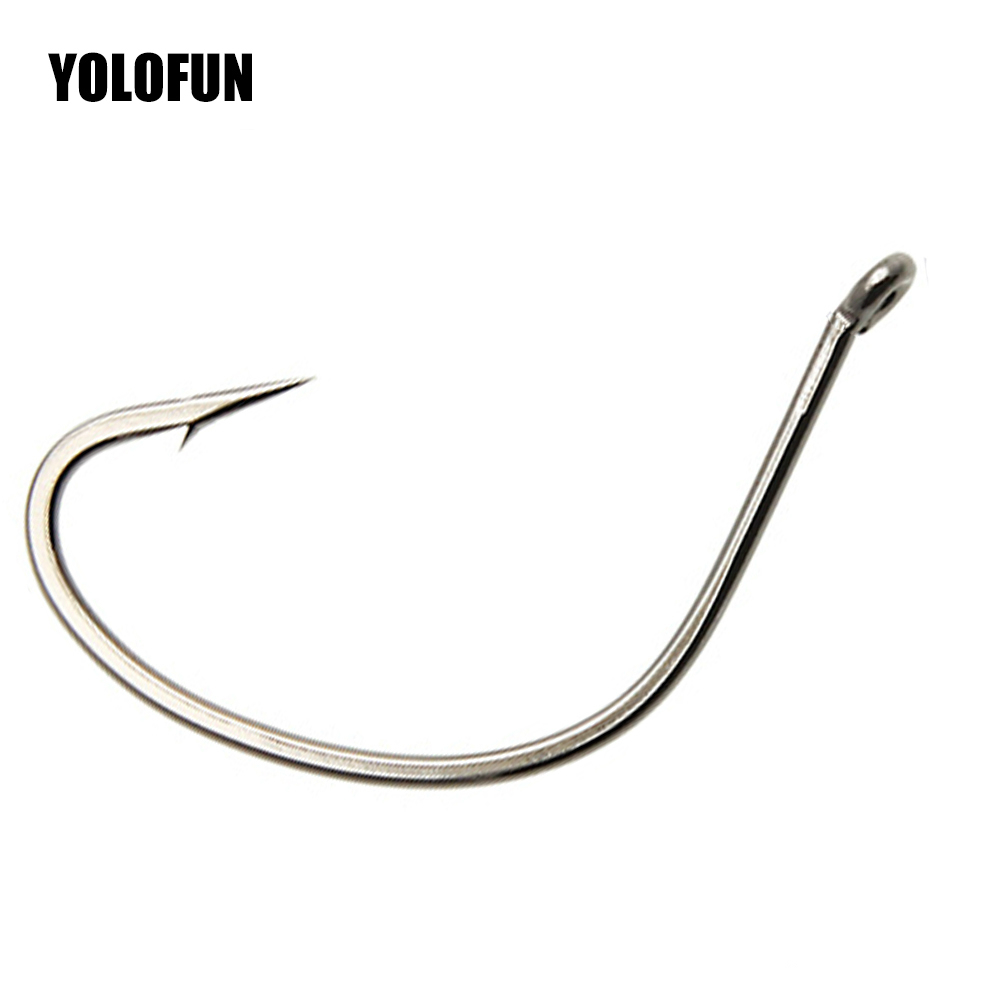 10pcs/lots Drop Shot Fishing Hook For Senko Worm And Livebait Wacky Rig Bass Fishing  High Carbon Material Fishing Hooks