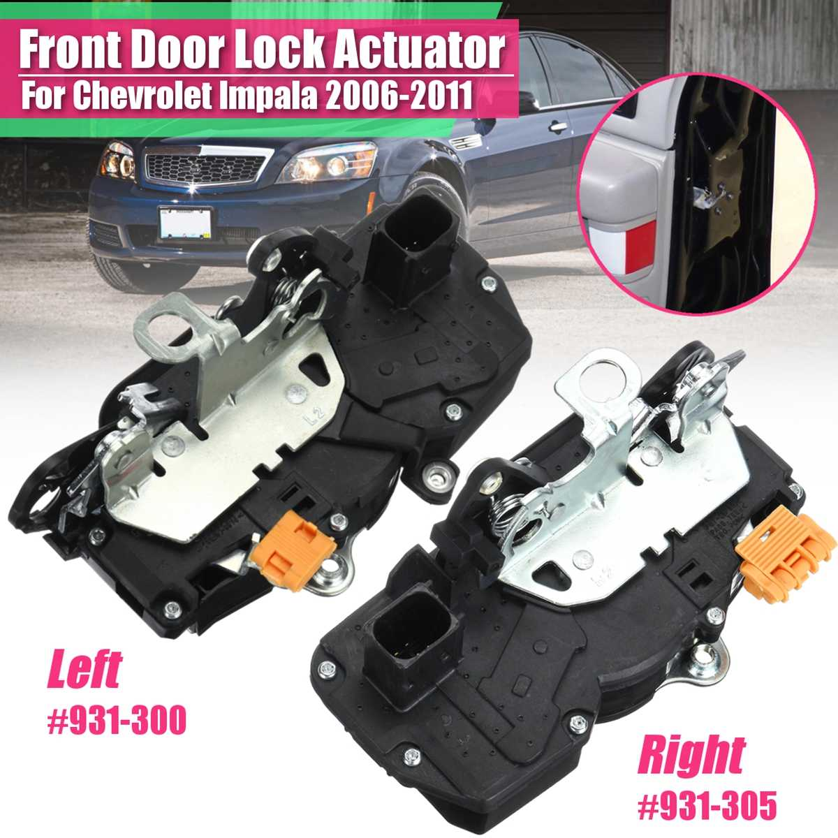 20790500 Power Door Lock Actuator for 06-11 Chevrolet Impala Rear Right 931-333