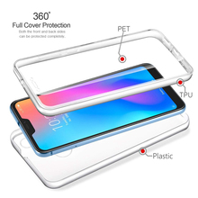 For Xiaomi Pocophone F1 6X 360 Degree Full Body Clear Front & Back TPU+PC Case Cover for 6A 6 Pro Redmi Note 7 4 4X 5