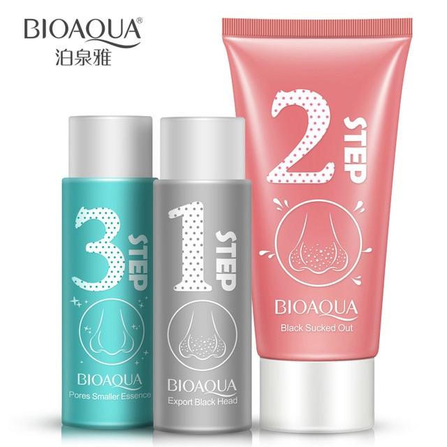 BIOAQUA 3 Steps Black Head Remover Set face mask korean cosmetics skin care peeling Mask blackhead mask Make Up Beauty 2