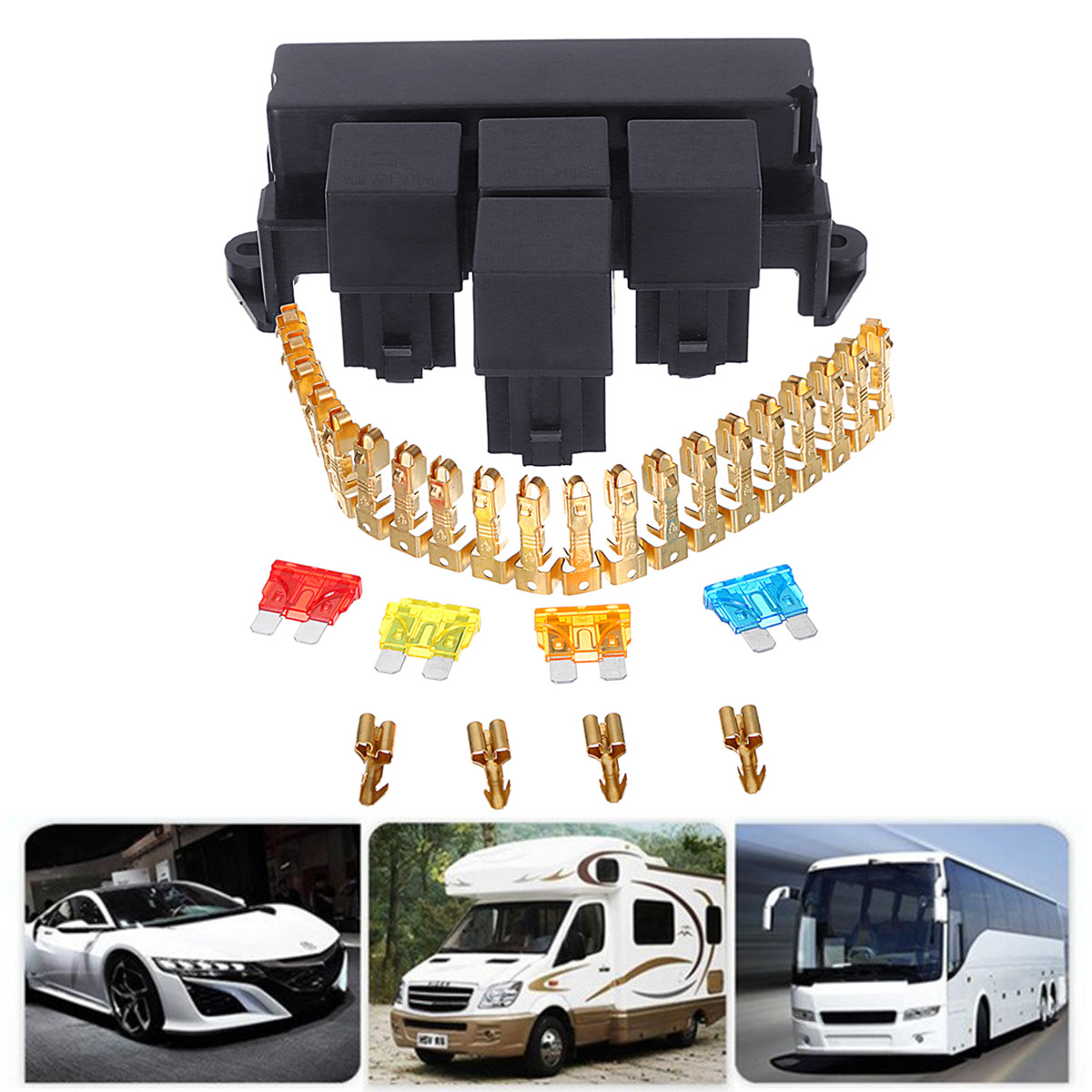 Dc 12v 10ways Automotive Replacement Blade Fuse Box Car