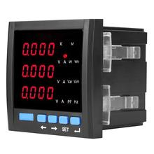 Digital LED Three-phase Ammeter Voltmeter Multifunctional Programmable Meter Black current meter three phase digital voltmeter ammeter digital ampere panel meter 96 96 led display combined meter