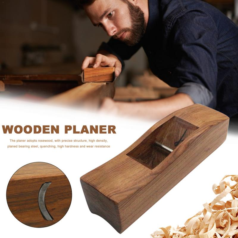 1 Stücke Hand Flugzeug Holz Hobel Palisander Holz Flugzeug Bottom Eingefasst Hand Hobel Klingen Für Carpenter Holzbearbeitung Werkzeuge Modern Und Elegant In Mode