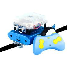 DIY Robot Car Kit With Intelligent Programming Assembled Remote Control Robot Toys(China)