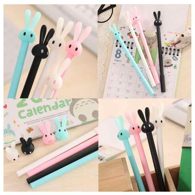 Cute Cartoon Rabbit Design Ballpoint Pen Kawaii Gel Ball Pens School Supplies Stationery Creative Ink Pen For School Stationery