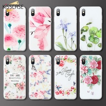 KISSCASE Lovely Flower Pattern Case For Huawei Honor 10 9 lite 8 3D Soft Phone pro Play 8X Coque Cover Fundas