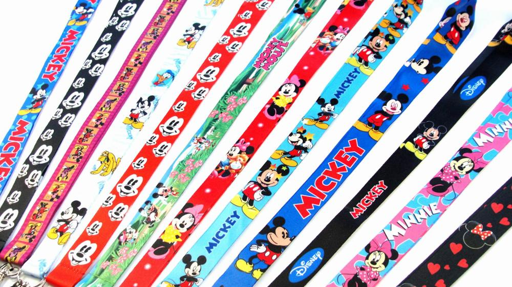 50 PCS Mickey & Minnie Mouse sleutel lanyards id badge houder sleutelhanger bandjes voor mobiele telefoon Groothandel Gratis Verzending-in Sleutelhangers van Sieraden & accessoires op  Groep 1