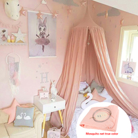 Crib net Lace Mosquito Net Round Dome Bed Canopy Cotton Linen Mosquito Net Curtain For Children Room Comfort Decoration