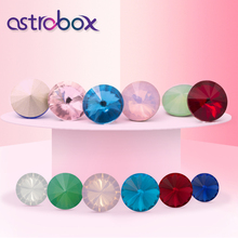 Crystal Rivoli K9 Glass Rhinestones Fancy Stone Multi Color Pointed back 10mm 12mm 14mm Loose Beads Strass for Jewelry Making